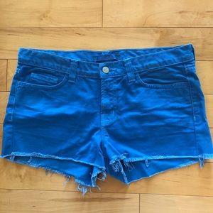 J brand blue shorts
